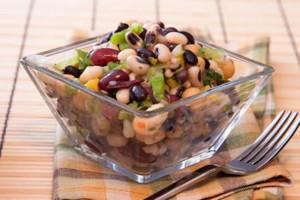 Fagioli misti in insalata