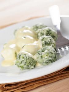 Gnocchetti al formaggio e spinaci