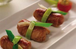 Involtini di carne al microonde
