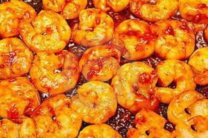 Gamberetti con salsa di peperoncino rosso