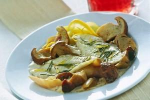Filetti di Rombo alla salsa di funghi