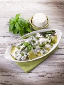 Ravioli in crema verde
