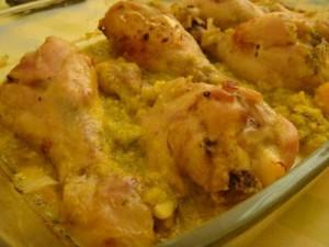 Cosce di pollo alla senape al microonde