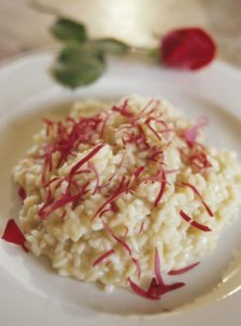 Risotto afrodisiaco alle rose