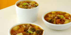 Pancetta affumicata e zuppa di cavolo
