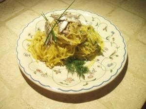 Tagliolini al limone, alici ed erbe aromatiche