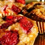 |⇨ Muffin di banana, limone e fragole