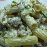 |⇨ Tortiglioni con salsa alle zucchine