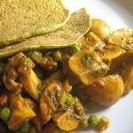 |⇨ Crespelle Integrali con piselli funghi e curry