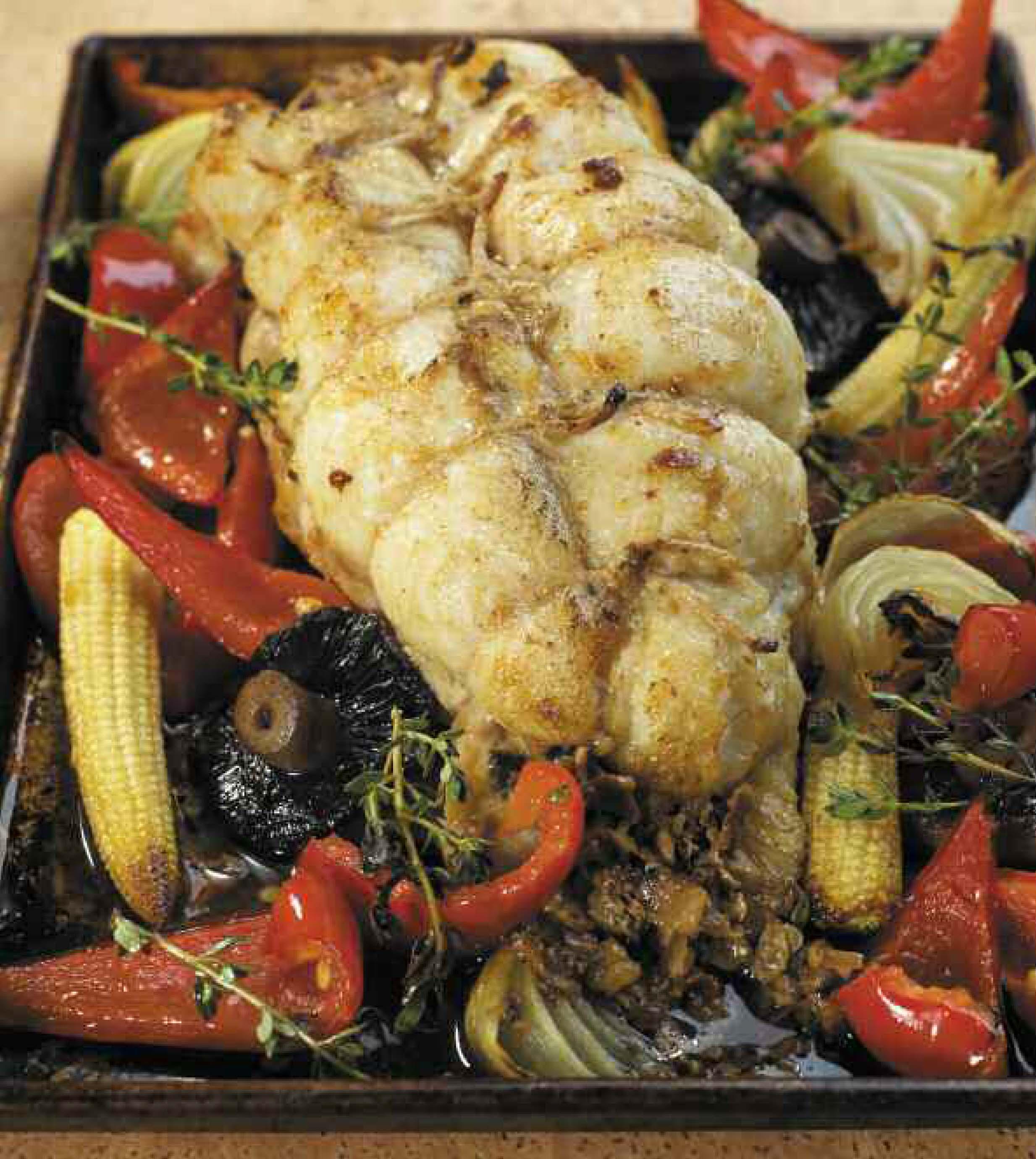 Rana pescatrice coda di rospo ripiena al forno il for Cucinare rana pescatrice
