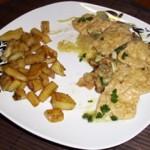  ⇨ Bistecchine di soia ai funghi e patate