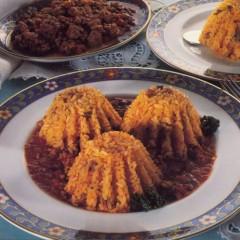 Timballini di riso al ragù