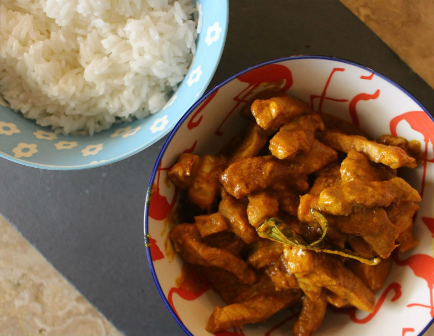 Yellow curry thailandese