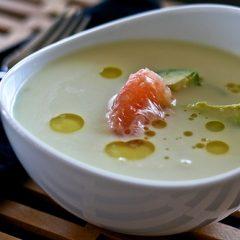 Grapefruit avocado soup
