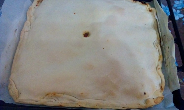 Sformato di pane azzimo ripieno di peperoni