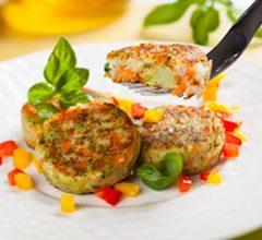 Burger di ceci e verdure
