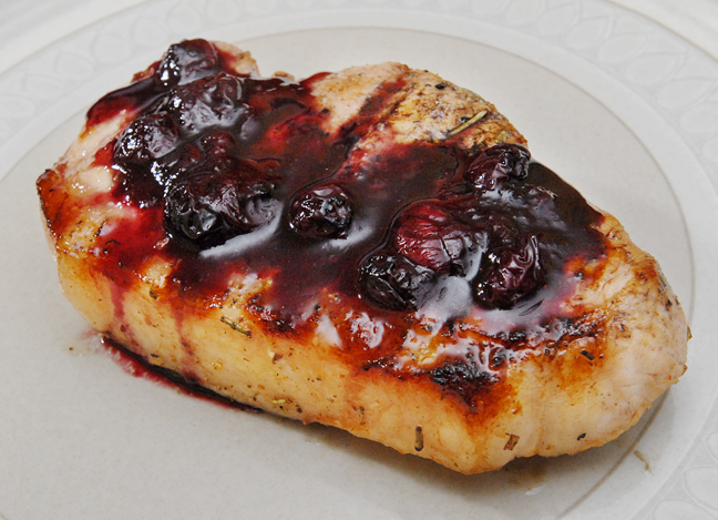 Pork cutlet with blueberry