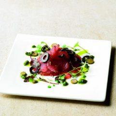 Carpaccio di tonno con salsa verde
