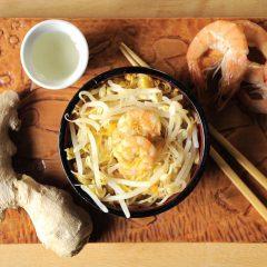 Spaghetti di Soia con Gamberi e Verdure Bimby