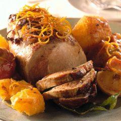 Arrosto di maiale burro e arancia