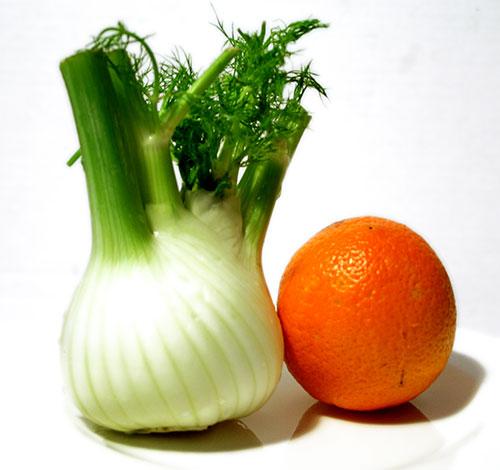 Finocchi con salsa di arancia