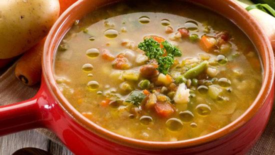 Minestrone verdure e lenticchie