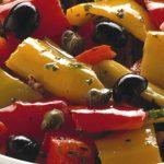  ⇨ Peperonata con olive e capperi