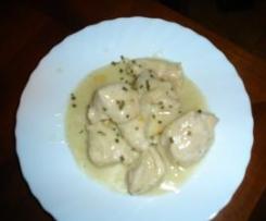 Bocconcini di pollo cremosi al limone