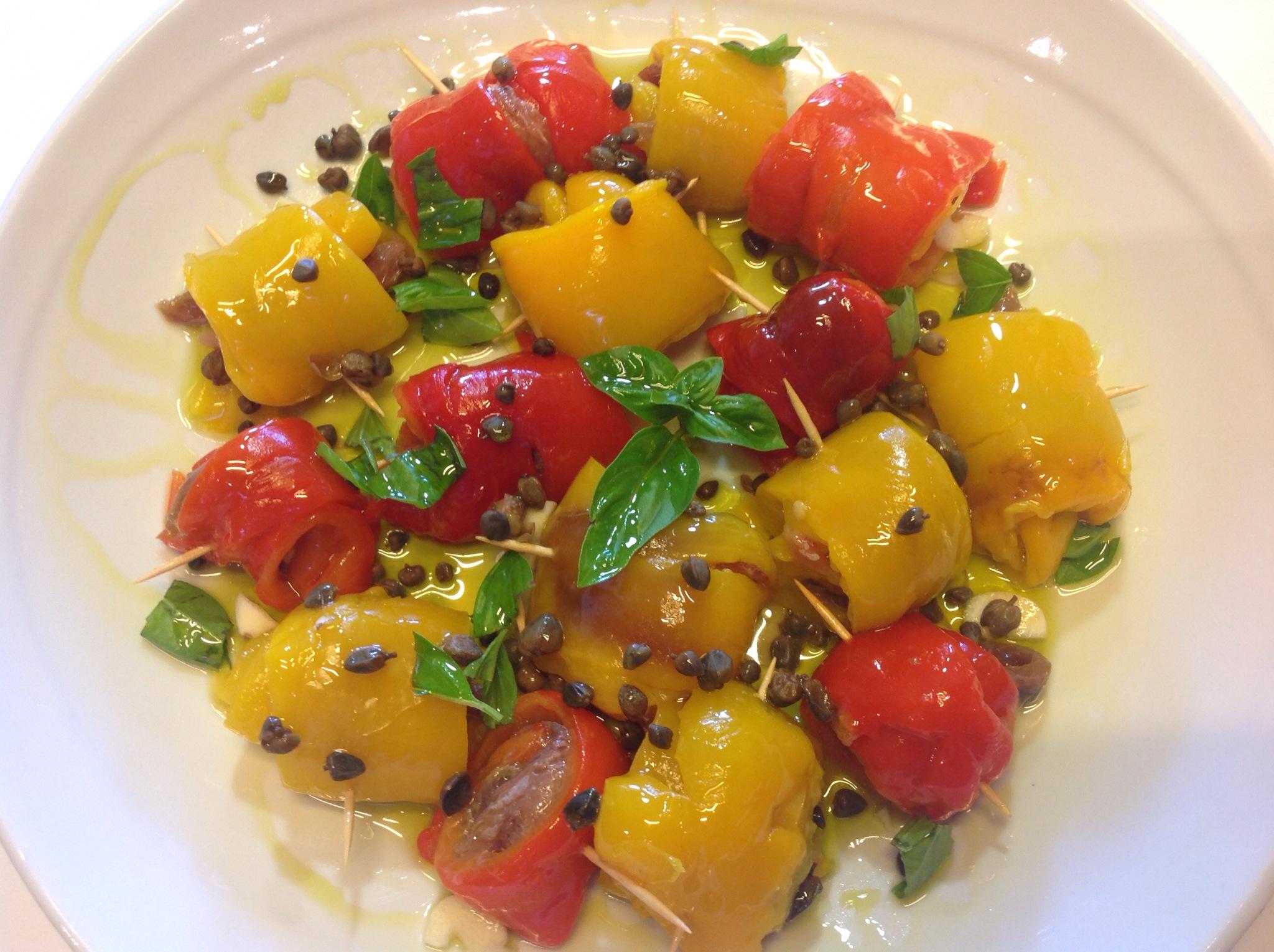 Peperoni arrotolati