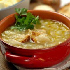 Zuppa di Riso con le Cipolle
