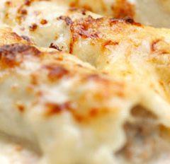Cannelloni con porro e gorgonzola