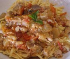Tagliolini allo Spada, Melanzane e Pomodorini