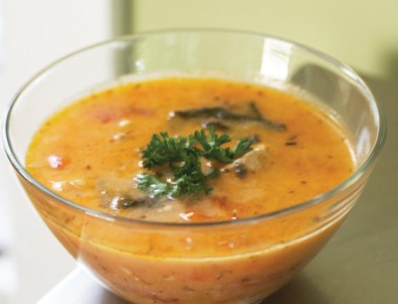 Zuppa di Mango con Pollo