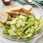 |⇨ Carpaccio di zucchine al pepe verde