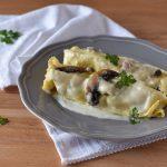 |⇨ Cannelloni con salsiccia funghi e taleggio