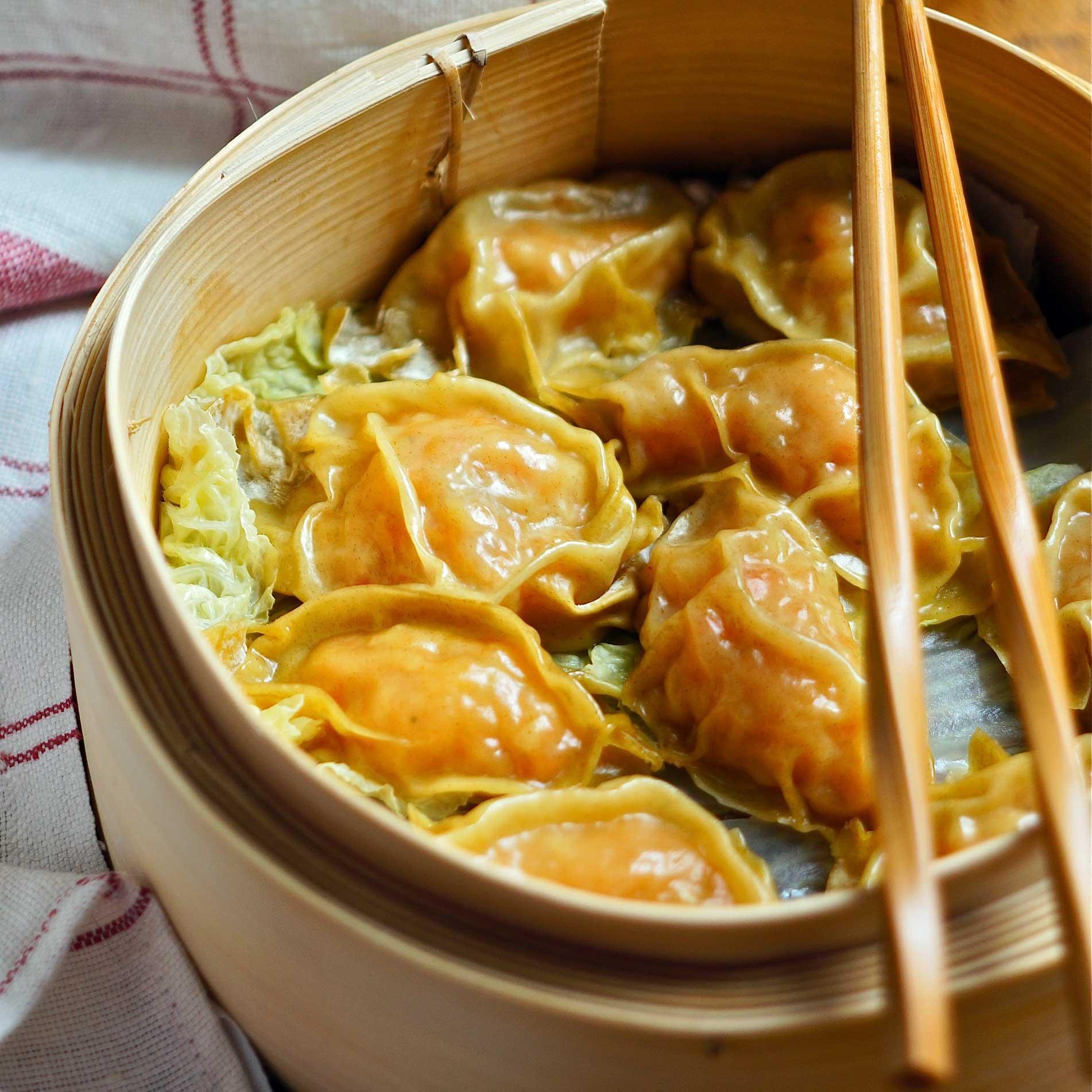 Ravioli cinesi ai gamberi