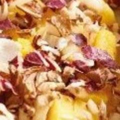 Bocconcini di polenta pasticciati con radicchio rosso e brie