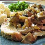 |⇨ Arrosto di maiale con salsa ai funghi porcini