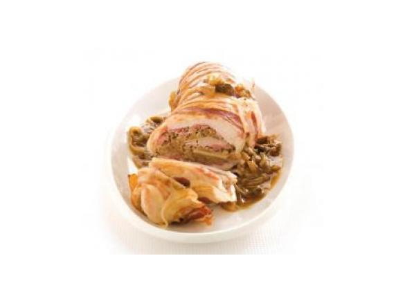 Tacchino alle castagne in salsa di funghi