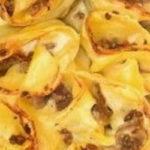 |⇨ Girelle di lasagne al ragù bianco di carne e funghi