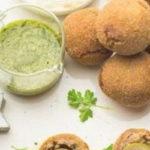 |⇨ Olive all'ascolana al contrario con Hummus di cannellini e salsa verde
