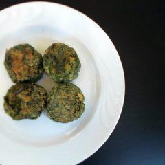 Polpette di spinaci e tofu
