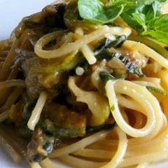 Spaghetti alle Zucchine Trifolate