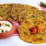 |⇨ Thepla di spinaci, pani indiani alla santoreggia