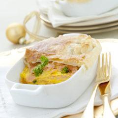 Lasagne al salmone in crosta di sfoglia