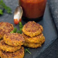Crocchette di amaranto con zucca e pomodori secchi