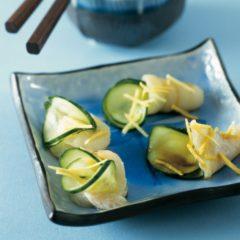 Sashimi di cetriolo e sogliola